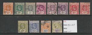Ceylon  1911-1925 - 12 used stamps