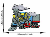 Train Railway Cartoon Applique Iron on Patch Sew For T-shirt Jeans Cap Hat