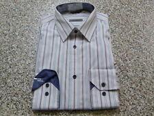 Camicie classiche da uomo doppio polsino in cotone bianco