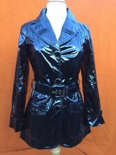 Authentic ROBERTO CAVALLI (JUST CAVALLI )women's black raincoat, size Small