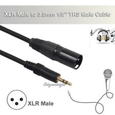 3.5mm 1/8'' Stereo Male Plug to 3Pin XLR Male Mic Microphone Audio Cable Cord 3m