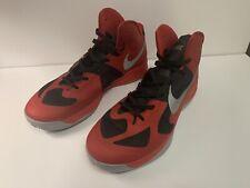 Nike Hyperfuse Basketball Shoe Red Grey Black 525022-602 Mens Size US 15 UK 14