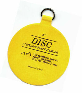 Flatirons Disc Adhesive Large Plate Hanger Set (4-4 Inch Hangers) 4
