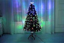 Led & Fibre Optic 120cm Christmas Xmas Tree Lights Pre Lit Green Decoration 4Ft