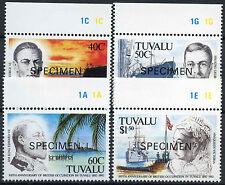 Tuvalu 1992 SG#625-8 British Occupations Optd Specimen MNH Set #A86249