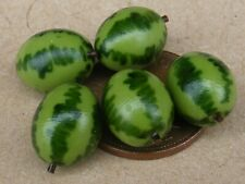 1:12 Scale 4 Small Water Melons Tumdee Dolls House Miniature Fruit Kitchen Shop