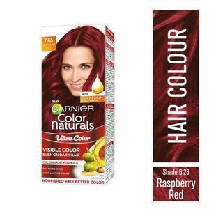 Garnier Color Naturals Creame Hair Raspberry Red Shade 55ml + 50gm