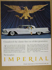 1958 Chrysler Imperial 2-door Hardtop white car photo vintage print Ad