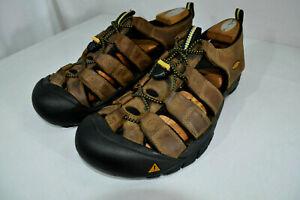 KEEN Newport Brown Leather Sport Sandals Waterproof Euro 46 Men 12 M