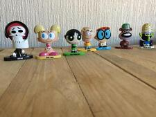 Power Puff Girls Cartoon Collectable Figures Rare Unique (x7) Buttercup Grim Dee