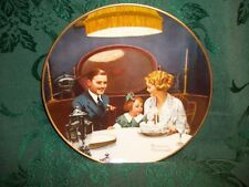 Norman Rockwell The Birthday Wish Knowles Fine China Decorative Vintage Plate