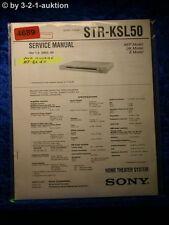 Sony Service Manual STR KSL50 Home Theater System (#4689)
