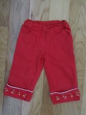 EUC GIRL GYMBOREE CHERRY BABY RED CAPRI PANTS CAPRIS 4 4T