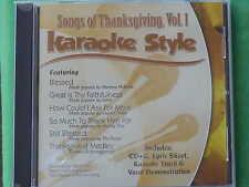 Songs of Thanksgiving~#1 ~Christian Daywind Karaoke Style ~ Still Blessed ~ CD+G