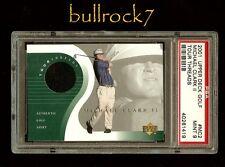 MICHAEL CLARK II 2001 Upper Deck Golf Tour Threads Shirt Swatch PSA 9 #1047