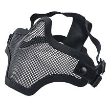 Black Airsoft Steel Mesh Tactical Half  Face Mask Airsoft Paintball