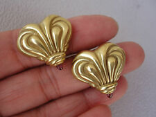 Vahe Naltchayan 18K Gold Heart Pink Tourmaline Earrings Dated 1994 16g