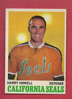 1970-71 TOPPS # 72 GOLDEN SEALS HARRY HOWELL  NRMT+  CARD