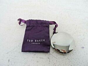 Ted Baker Silver Tone Pocket Make Up Mirror  J2