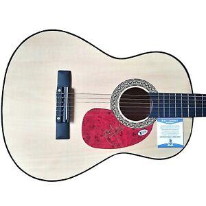 Al Jardine Beach Boys Autographed Signed Acoustic Guitar Beckett BAS Authentic