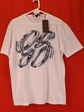 NWT GUCCI WHITE COTTON GG BELTS HORSEBIT LOGO SHORT SLEEVES T- SHIRT XXL