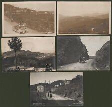 Genova - La spezia. STRADA DEL BRACCO. 5 cartoline fotografiche inizio '900