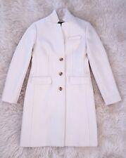 JCrew Regent Topcoat in Double Serge Wool 00P $350 e1034 ivory coat