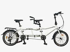 "Ecosmo 20"" Wheel New Folding Steel Tandem Bicycle Bike 7 Speeds - 20TF01WR"