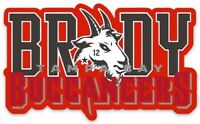 "Tampa Bay Tom Brady #12 ""G.O.A.T."" Logo Type Buccaneers NFL Die-cut MAGNET"