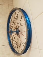 Rare vintage BMX rim wheel old school Araya Japan blue anodized suzue hub