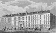 PARIS. Hotel Carde Corps. military, horseback 1828 old antique print picture
