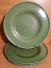 """IKEA TRIVSAM GREEN Dinner plate set of 4, 12 3/8"""", Speckled, Excellent"""