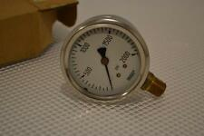 "ONE NEW WIKA STAINLESS STEEL PRESSURE GAUGE  213.53 2.5""."