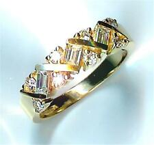 Gold Wedding Band, priced below cost New 0.74Ct Total Diamond 14k Yellow