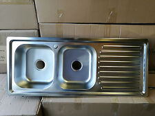 Brand New Stainless Steel Double Bowl Sink 1200x500x210 mm