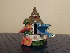 """1997 Hamilton Collection Bird Houses in Bloom Blue Jay'S Minaret 3"""" tall"""