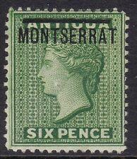 MONTSERRAT 1876-83 6D GREEN, MINT, CAT £75