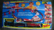 Hot Wheels Power Express Train Set with 4 Train Cars & 1 HW Car NEW IN BOX