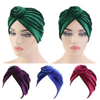 Muslim Women Velvet Chemo Cap Turban Scarf Hat Hijab Wrap Bonnet Headcover India