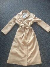"Vintage All Weather Ladies Coat 34"" Bust Camel Washable"