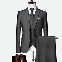 Herrenmode Business Anzug Groomsman Blazer Hochzeit 3-Teiler Elegant Formell Neu