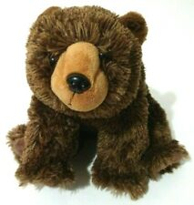 "Wild Republic Brown Grizzly Bear Beanbag Plush Stuffed Animal 12"" Sitting Soft"