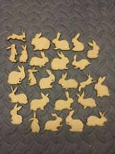 mdf  wooden bunny rabbits various /shape /  sign / stencil