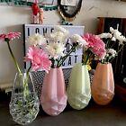 Lot 4 vases en verre origami déco design Scandinave H 20