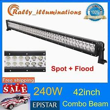 42IN 240W LED WORK LIGHT BAR FLOOD SPOT FOG DRIVING SUV JEEP OFFROAD TRUCK RALLY