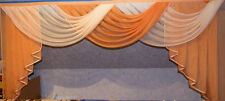 Deko-Gardine, Vorhang , Querbehang, orange/weiss 1,60 m  breit