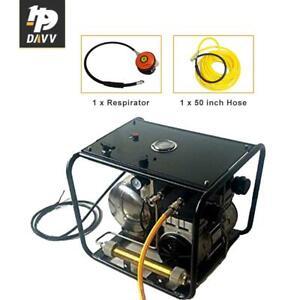 110V 60HZ 115psi Air Compressor for Scuba Diving Breathing W/50ft Hose Regulator