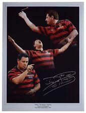 Dennis Priestley Signed autograph 16x12 Huge photo Darts Sport Aftal Coa