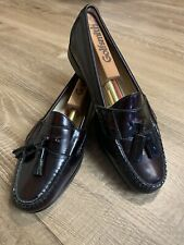 Vintage Cole Haan New No Box Tassle Loafer Burgundy 9 D