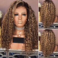 Damen Ombre Mode Volle Perücke Cosplay Haarteile Wig Haar Kostüm Gelockt Haar